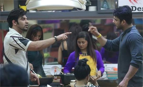 bigg boss 13  shehnaz upset with siddharth as he nominates paras