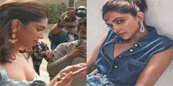 deepika padukone checks out paparazzi  s phone  asks   main use kar sakti hoon