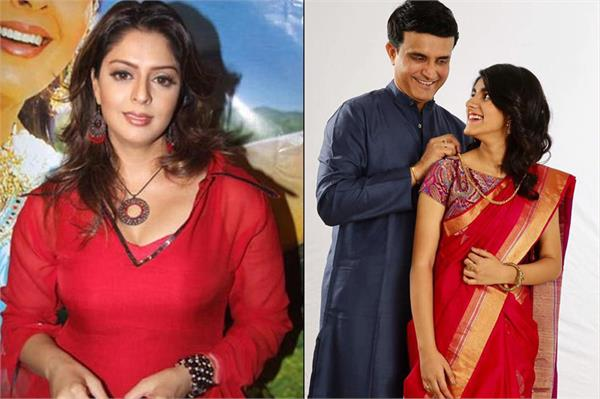 nagma said sourav give freedom of expression to his daughter sana ganguly