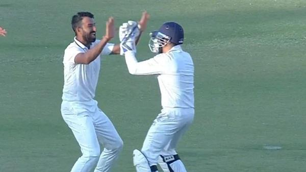 cheteshwar pujara picks up a wicket in ranji dhawan trolled on social media