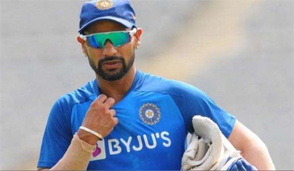 shikhar dhawan may be ruled outon odi series against wi report