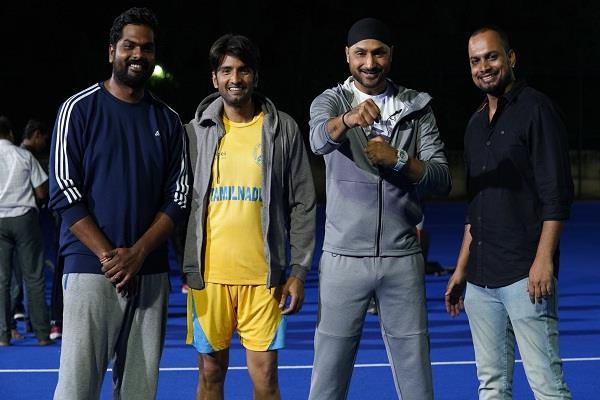 harbhajan singh  big screen  shooting