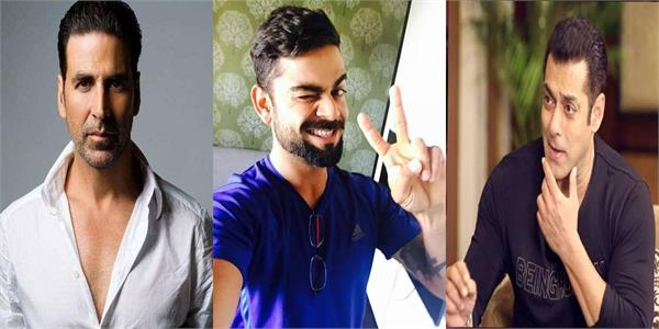 virat kohli beats akshay kumar and salman khan to emerge highest earning