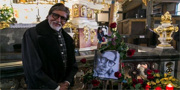 amitabh bachchan remembers his father during visit to an ancient church