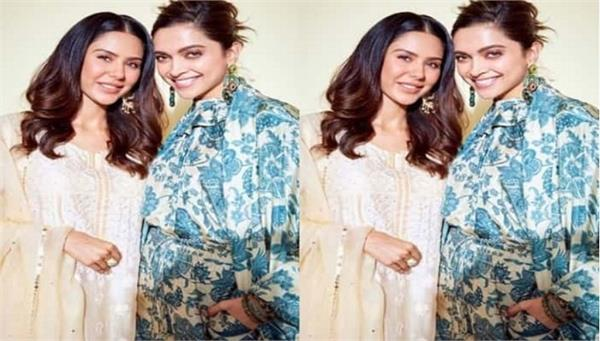 deepika padukone and sonam bajwa enjoy a hearty chat
