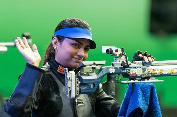 anjum won the third consecutive title in the 50m rifle three position