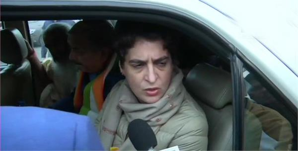 police stopped priyanka gandhi  s vehicle