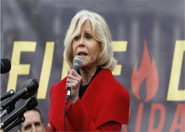 hollywood actress jane fonda arrested for the 5th time