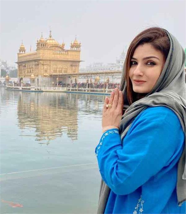 sri harmandir sahib  raveena tandon  bollywood actress