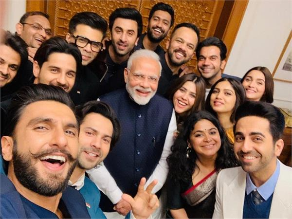narendra modi meets bollywood young icons