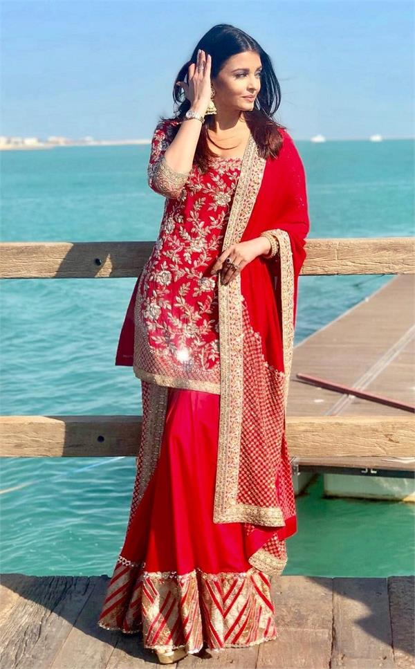 aishwarya rai bachchan red look