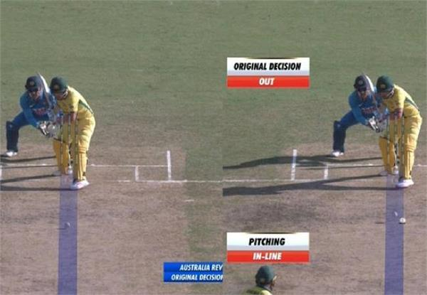hawkeye s verdict surrounding controversy over finch s lbw video viral