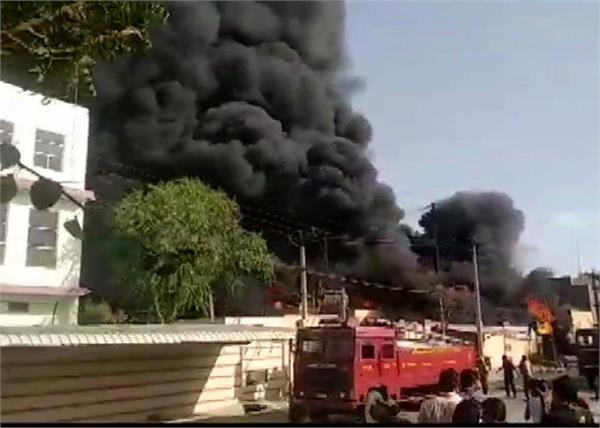 rajasthan  a tragic fire in the chemical factory of jodhpur