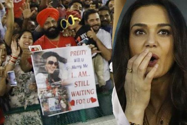 live match  the prince made a proposal for preity zinta to get married
