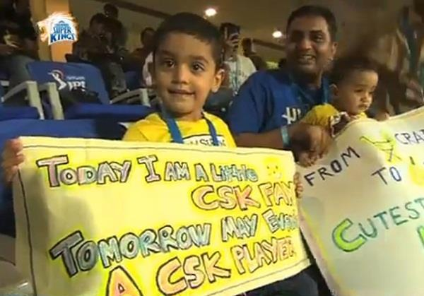 heart of the chennai super kings won the win  was written on the board