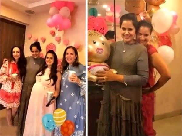 sameera reddy baby shower