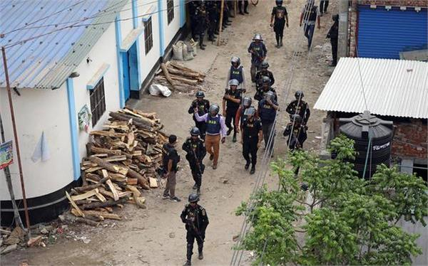 two terrorists in bangladesh blew themselves during the raid