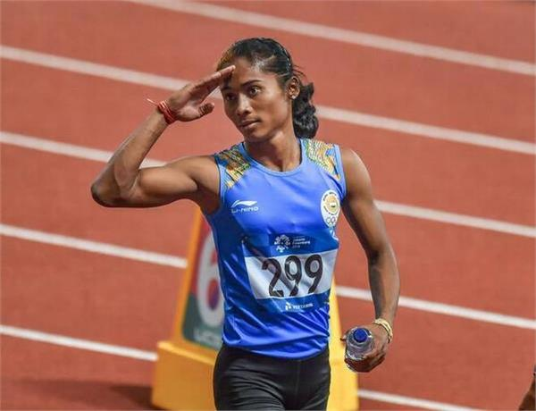 waist pain 400 meters could not complete the race hima das