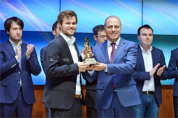 sharmakir masters won by carlsen with victory