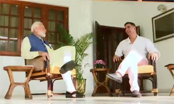 akshay kumar gets pm modi s interview