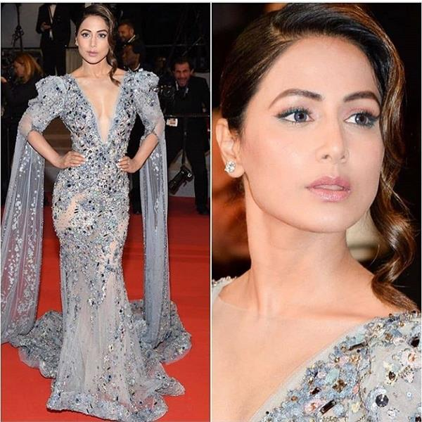 cannes 2019 hina khan red carpet