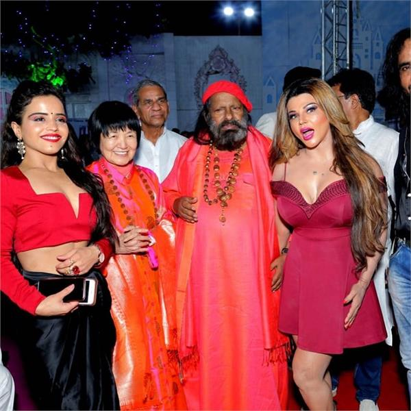 actress rakhi sawant shared pics with pilot baba