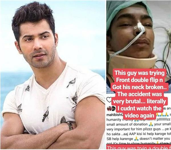 varun donates rs 5 lakh for treatment of dancer injured