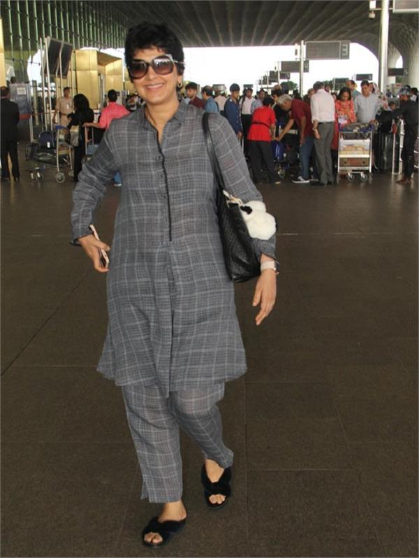 sonali bendre snapped at mumbai airport