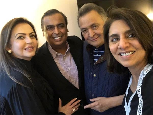nita ambani with anil ambani flew to new york to meet rishi kapoor