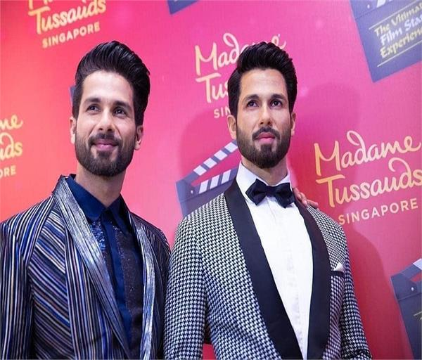 shahid kapoor  s wax statue at the madame tussauds museum