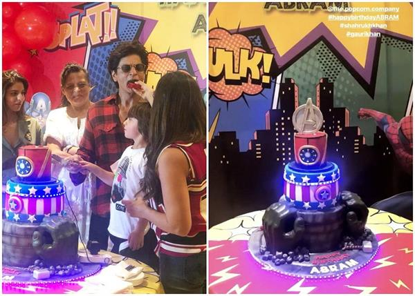 shahrukh khan  s son abram birthday party