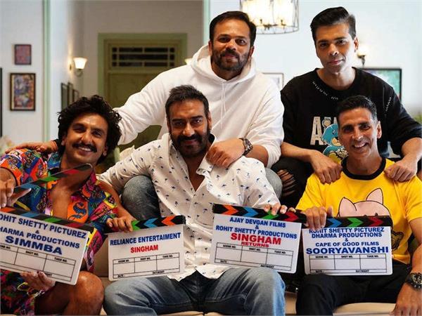 ajay devgn join akshay kumar as   sooryavanshi   shoot kickstarts
