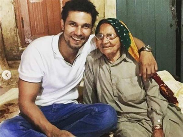 randeep hooda s grand mother death