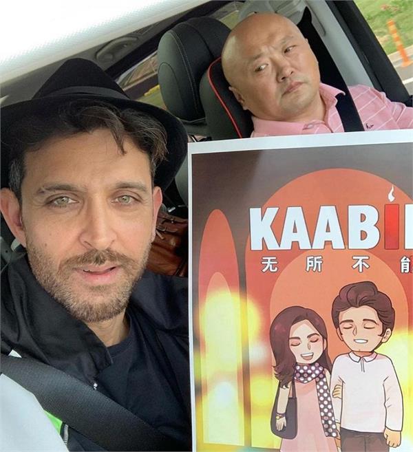 fans go gaga as hrithik roshan reaches china for kaabil premiere