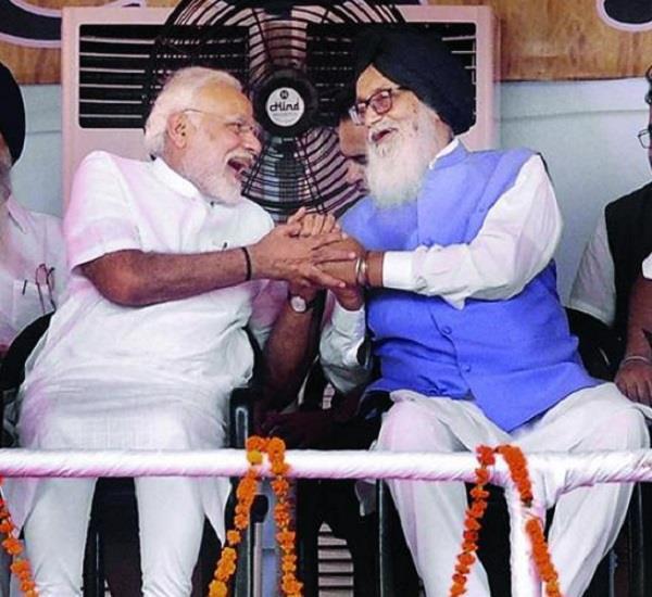 parkash singh badal narendra modi congratulations