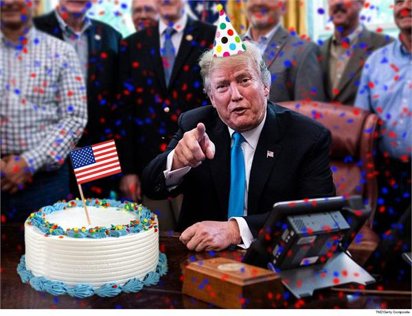 birthday special  donald trump is usually not about to add a hand