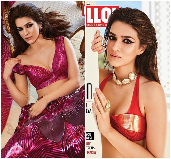 kriti sanon looks smelting hot in the latest cover of hello magazine