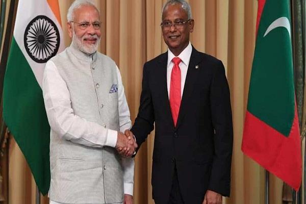 maldives narendra modi and ibrahim solihi