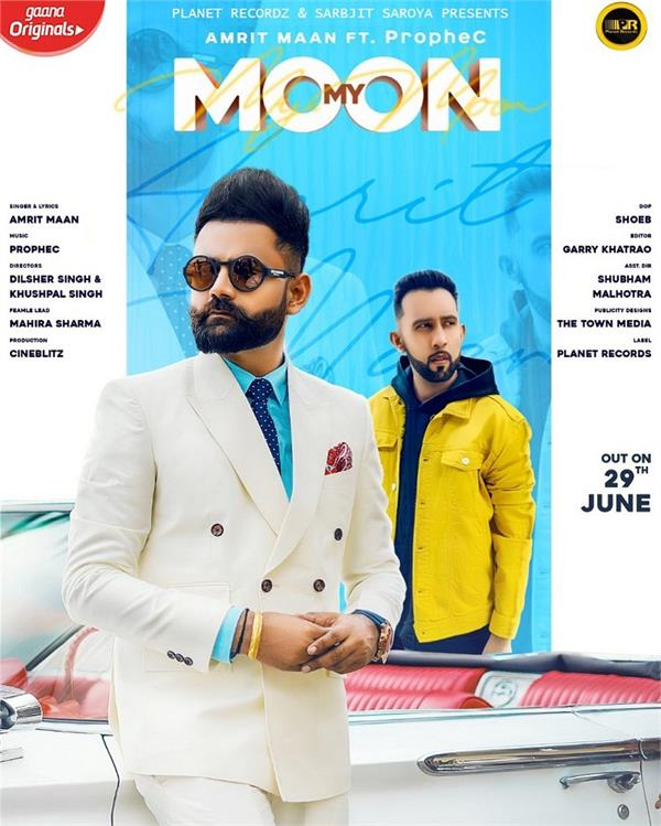 amrit maan new song my moon poster out