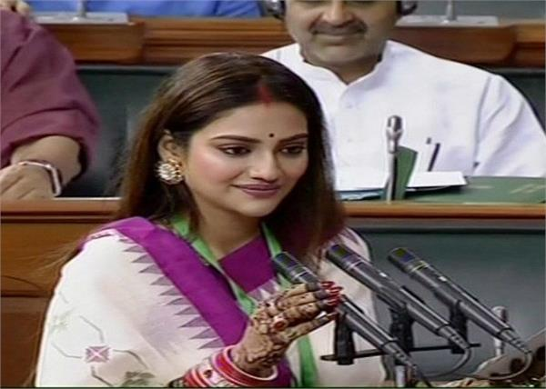 tmc mps nusrat jahan taking oath