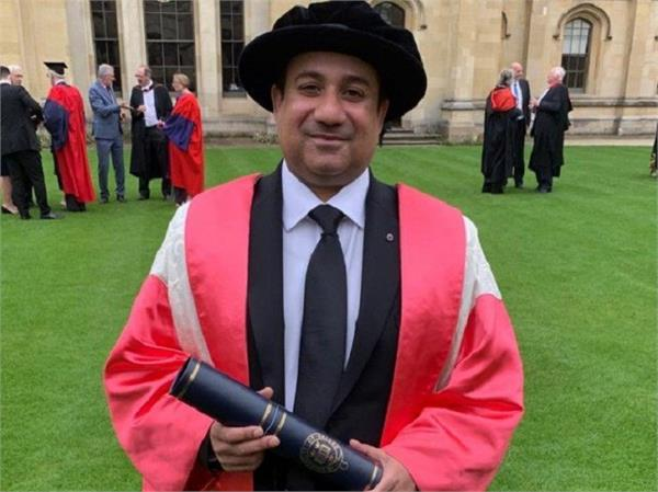 rahat fateh ali khan receives honorary degree at oxford university