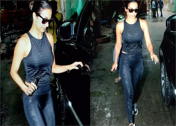 malaika arora spotted outside a hospital in mumbai