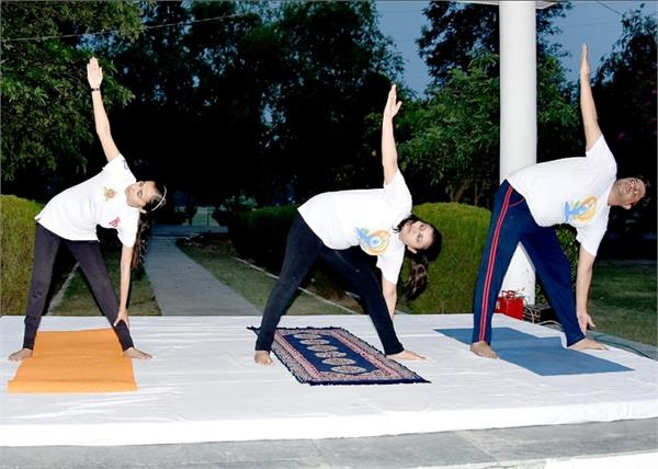 yoga day  p a p  headquarters  jalandhar