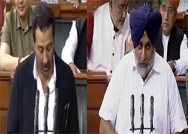 sukhbir badal and sunny deol  takes oath