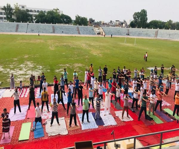 jalalabad  international  yoga day