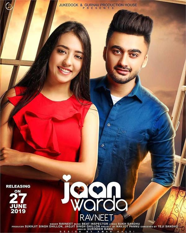 ravneet new song jaan warda poster out