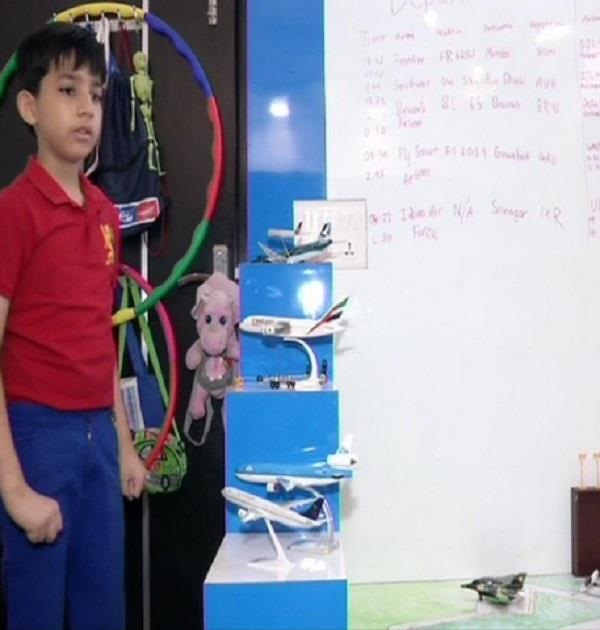 delhi airport  9 yearsold child  birthday celebration
