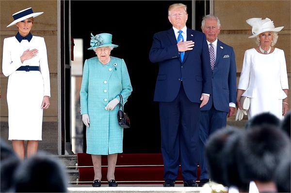 us president trump  s queen in buckingham palace wonderful reception