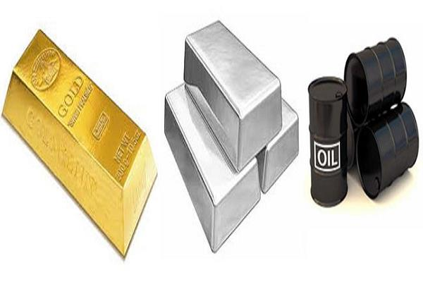 crude oil bounce  gold and silver shine