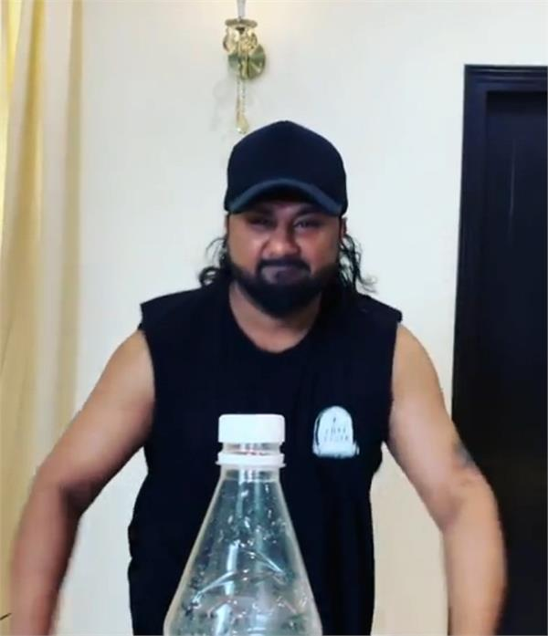 honey singh complete bottle cap challenge in his own style